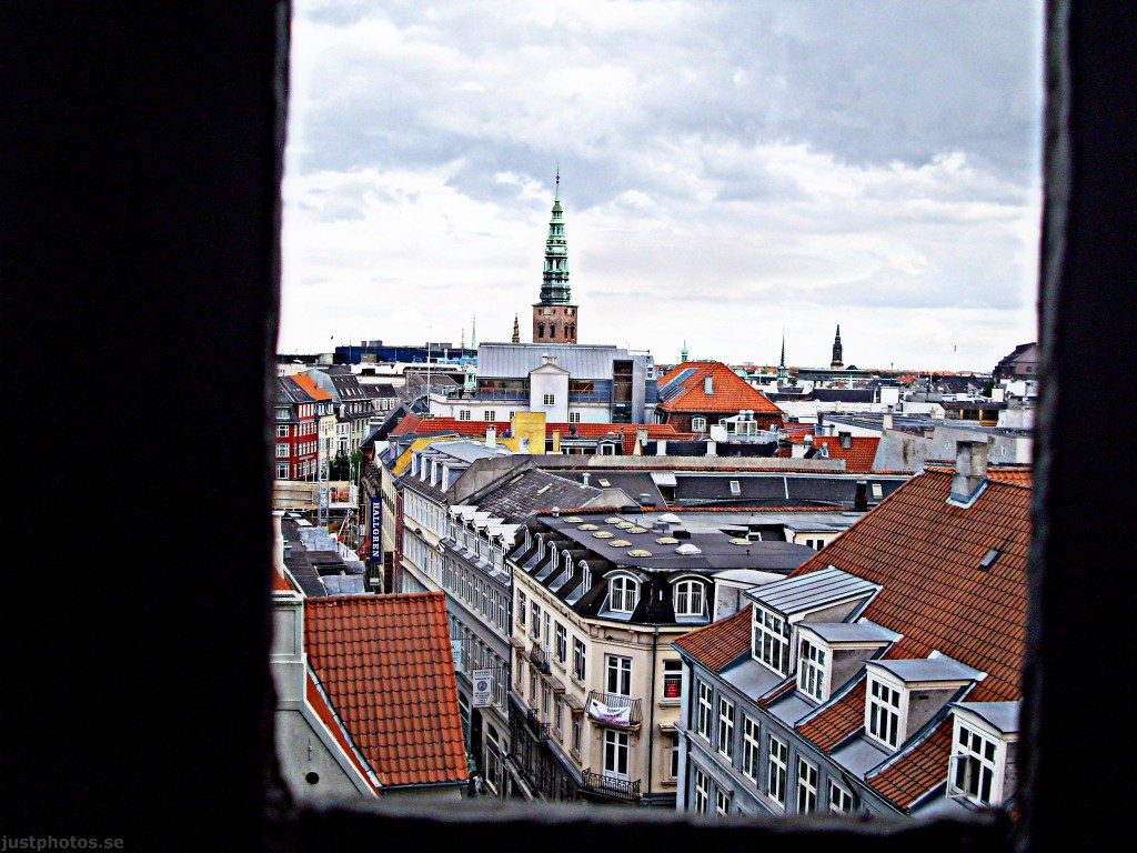 a view from Round Tower at Copenhagen