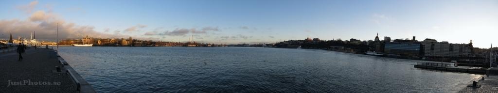 Panorama view from Skeppsbrokajen in Stockholm