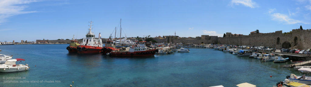 Harbor of Rhodos Panorama